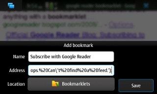 MicroB - Add Bookmark