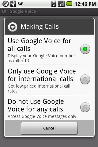 Android Google Voice App