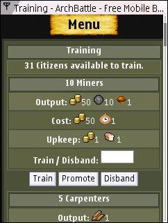 ArchBattle Mobile - Training