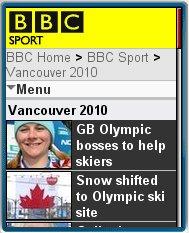 BBC Olympics    Mobile