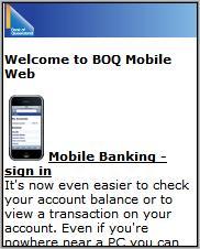 Bank of Queensland Mobile Site