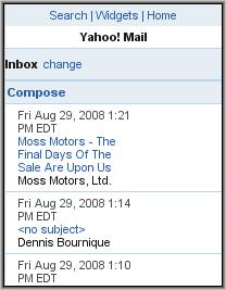 Y! Beta - Inbox