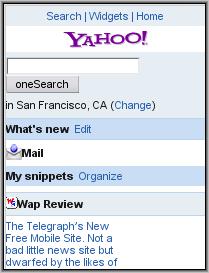 Y!Mail Beta - Personalized Portal