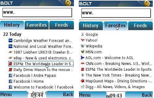 Bolt - History and Favorites