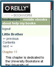 Bookworm mobile web eBook Reader