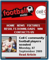 Cell C Football Mobile Website