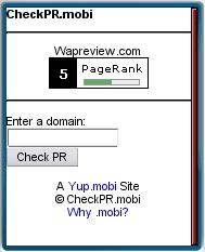 CheckPR.mobi