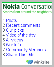 Nokia Conversations in WinkSite