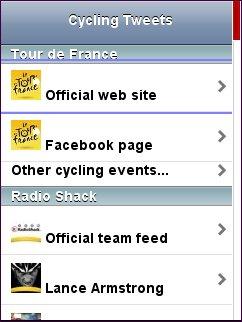 Cycling Tweets