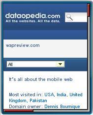 Dataopedia's Mobile Web Site