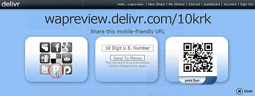 Delivr Share Detail With Share on Ping Button