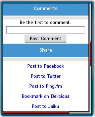 Delivr's Post to Ping.fm option
