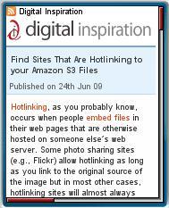 Digtal Inspiration Mobile Site