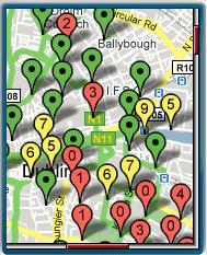 dunlinbikes.mobi - map view