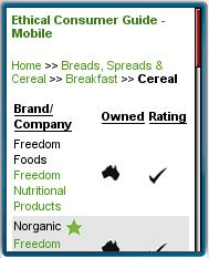 Ethical Consumer Guide Mobile