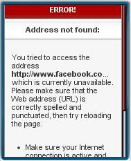 404 Error Visiting Facebook Page