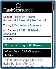 FlashScore.mobi Screenshot