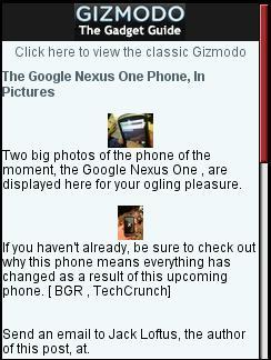 Gizmodo Mobile