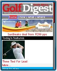 GolfDigest Mobile Web Edition