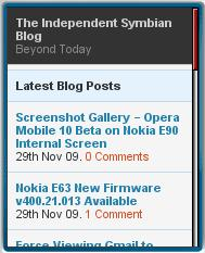 The Independent Symbian Blog