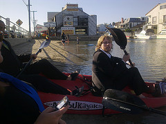 Kayaking in Suits