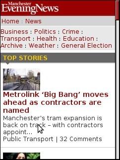 Manchester Evening News Mobile