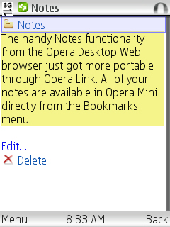 Opera Mini 4.2 Notes