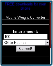 Mobile Weight Converter