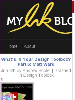 My Ink Blog