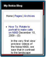 My Nokia Blog Mobile