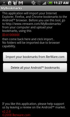 MyBookmarks Android App
