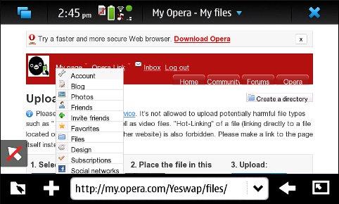 N900 Browser Hover Mode