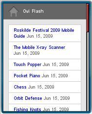 Ovi Flash Mobile Website