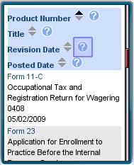IRS Website with links to PDFs