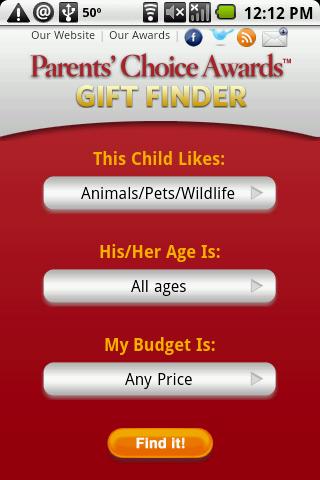 Parent's   Choice Touch Web Site