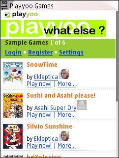 Playyoo home page