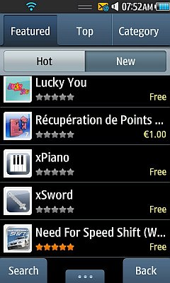 Samsung Apps - Catalog Screen