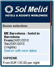 Sol Melia - Mobile Hotel Booking