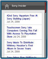 Sony Insider mobile
