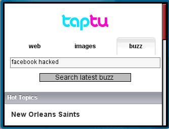 Taptu Real-Time Search Form