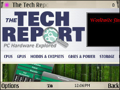 Symbian V7.2 Browser - TechReport Zoomed In