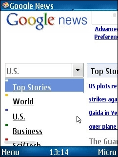 UCWEB 7 - Google News