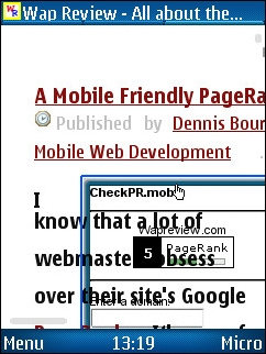 UCWEB 7 - Font too large, overlapping image and text