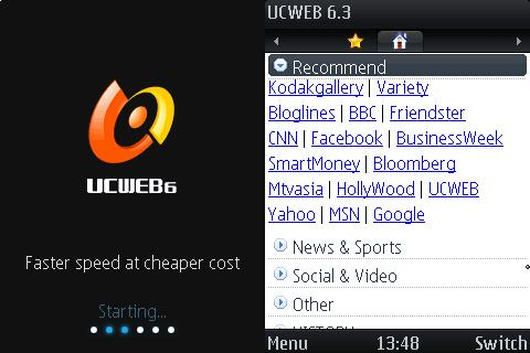 UCEEB 6.3 Splash Screen and default bookmarks