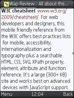UCWEB 7.0 Beta 2 - Word Wrap Works!