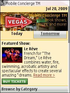Vegas Mobile Concierge on N95