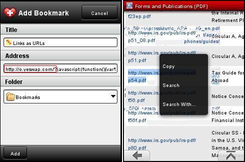 View PDFs in Opera Mini