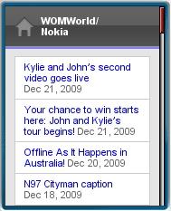 WOMWorld Mobile Site