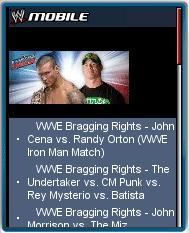 WWE Mobile Website