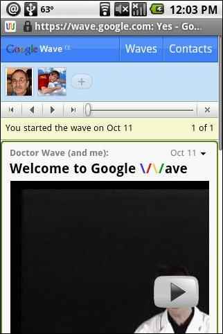 Video Wave on Android